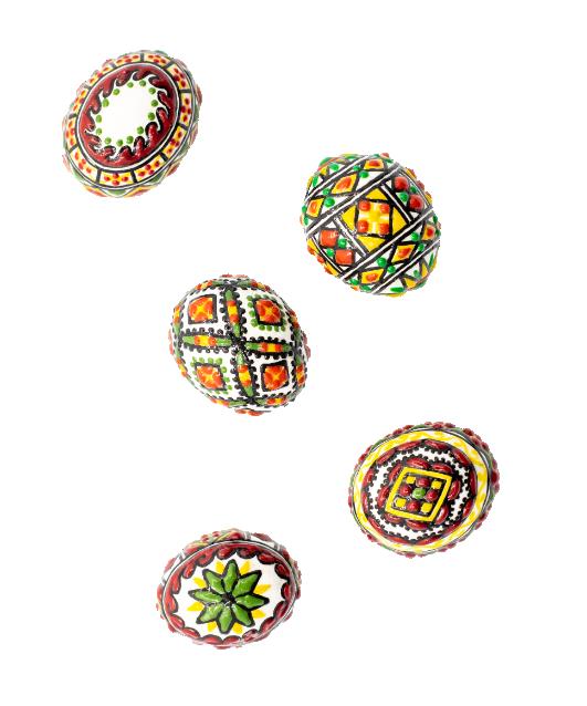Set ouă din lemn